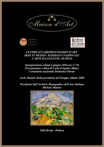Rassegna Nazionale - L'arte da Cezanne ad oggi - Padova - 2016