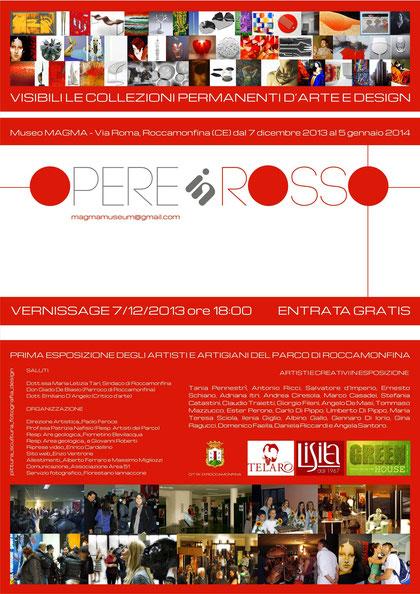 Mostra collettiva  Opere in Rosso  Museo MAGMA Teano - CE - 2014