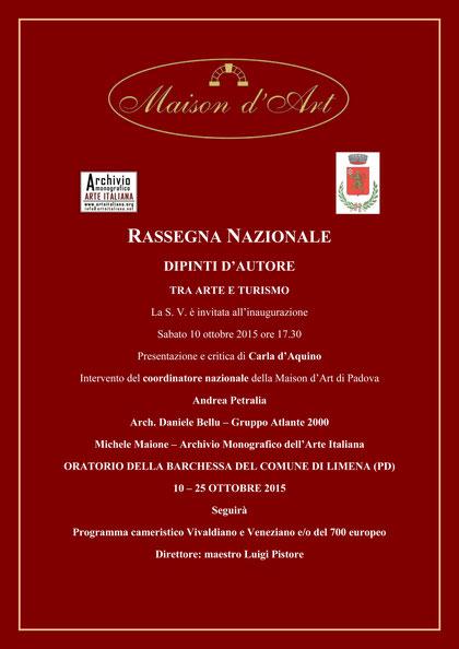 Mostra Collettiva Rassegna d'Autore -Padova- 2015