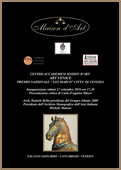Premio Nazionale - San Marco - Venezia - 2016