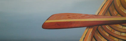 """MY PADDLE'S KEEN AND BRIGHT""   $425.00   12"" X 36"""