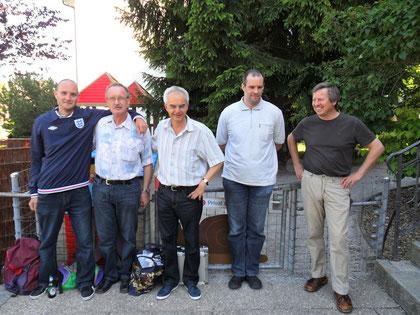 TKC Mutz Bern (4. Rang) von links nach rechts: Martin Stalder, Werner Stalder, Hans-Peter Pfäffli, Marc Messerli und Kurt Howald