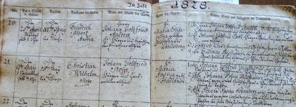 Geburt/birth Chistian Wilhelm Stoye KB Landsberg