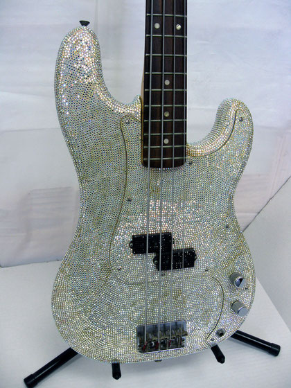 Rock Star Pave Bass Guitar