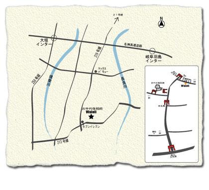 手作り革工房Waioliの地図-1