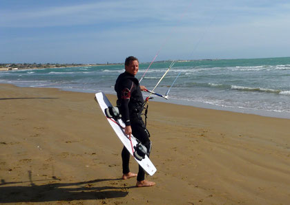 Kitesurfing am Granelli beach
