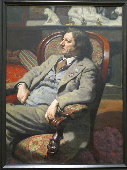 Alexander Laktionov (1910-1972) : portrait d'Isaac Brodsky