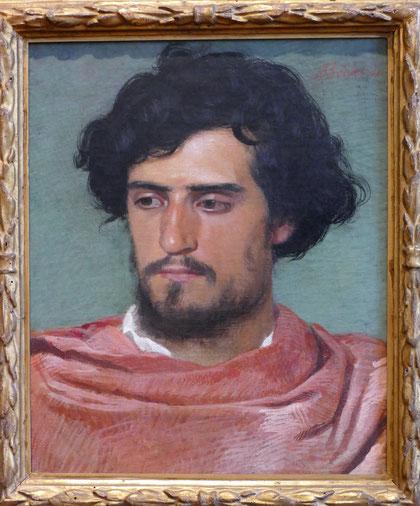Arnold Böcklin : tête de romain, 1863