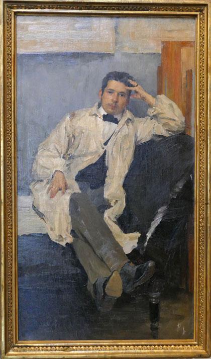 Philipp Malyavin (1869-1940) : portrait de Konstantin Somov
