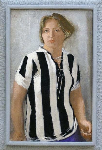 Alexander Samokhvalov (1894-1971) : jeune fille en maillot de sport