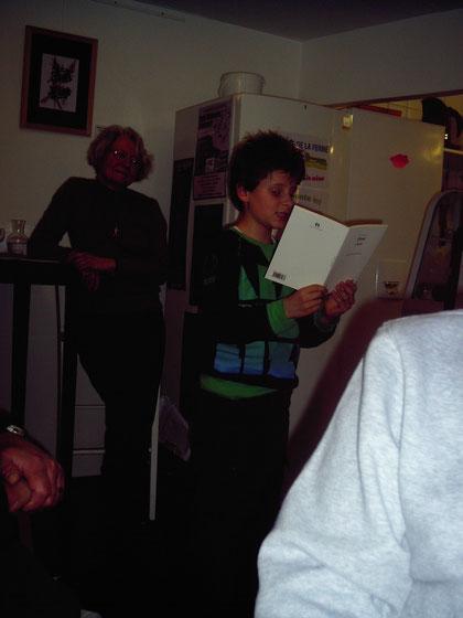 Octave, fidèle lecteur le jour de son anniversaire