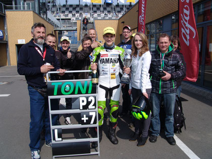 2. Platz - 1. Rennen R6 Cup Lausitzring 21.04.2013, toller Start in die Saison