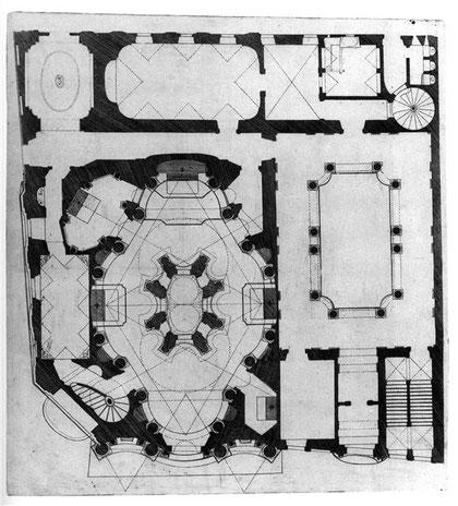 План церкви Сан Карло алле Куатро Фонтана.