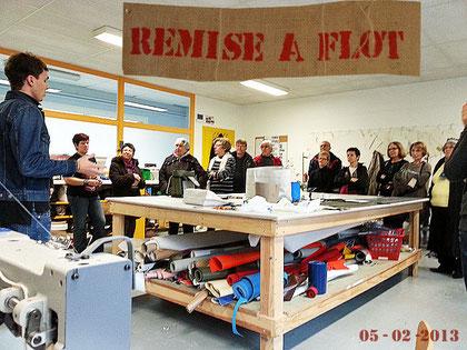 Visite de l'atelier Remise à flot à La Rochelle