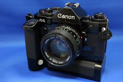 Canon A-1 Motor Drive MA, NewFD 50mm F1.4