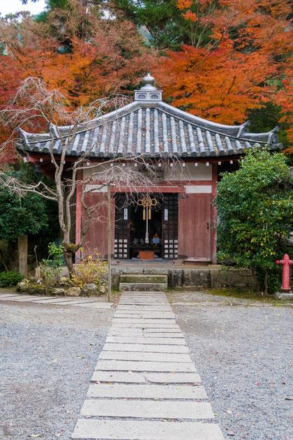 秋の山科 毘沙門堂