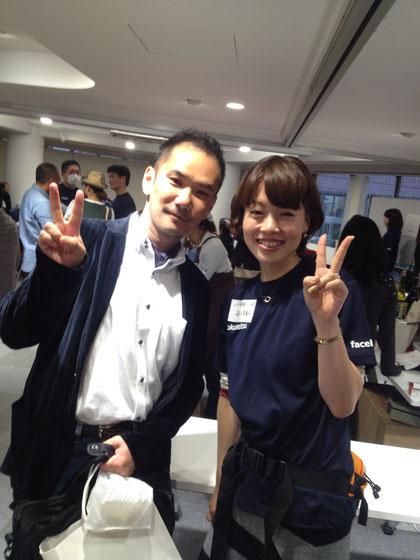 安川美貴子さんとツーショット。