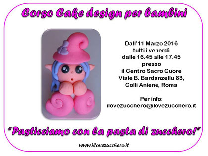 Corsi Di Cake Design Per Bambini Roma : Corso Cake Design bambini - Ilovezucchero sito dedicato ...