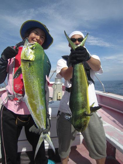 2012/9/6 青山様・松本様 シイラWヒット 入れ食いでした!