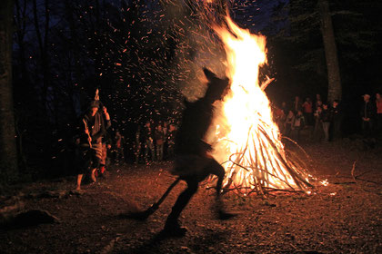 Das Hexenfeuer an der Walpurgisnacht