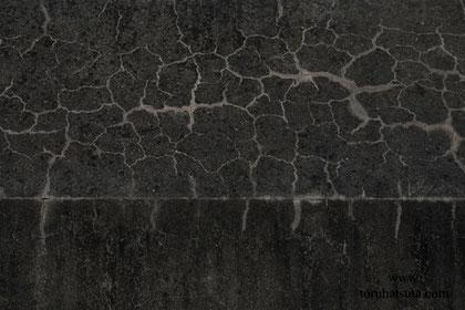 ひび割れ模様の見事な壁