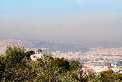 Athen im Smog