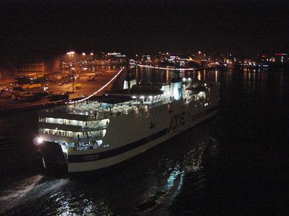 in Athen im Hafen von Piräus angekommen