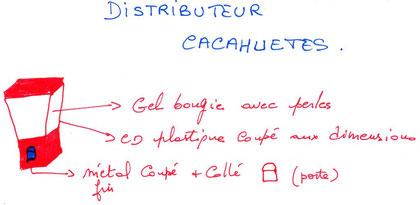 DISTRIBUTEUR DE CACAOUETES