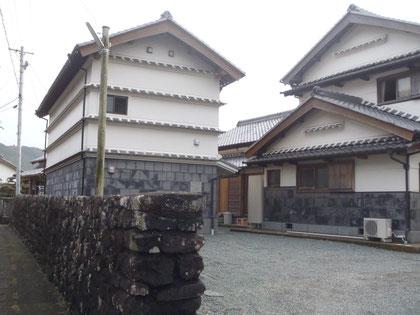 事務所は吉良川町重要伝統的建造物群保存地区内にあります。