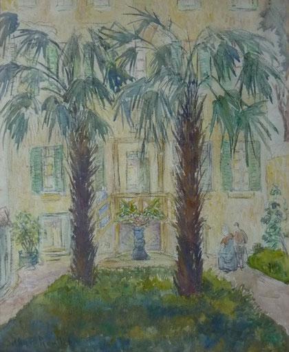 Les jardins de la Marquise ... à Rome en 1929.