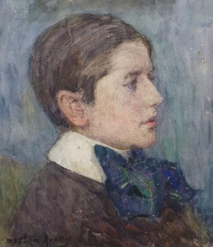 Portrait de son fils Roger.