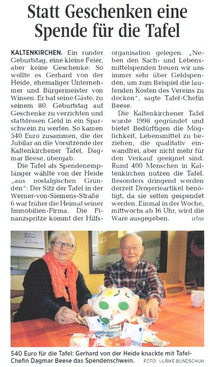 Segeberger Zeitung 20.01.2016