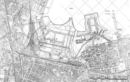 公表中間案・横浜市『都心臨海部総合整備基本計画』昭和56年7月頃 出典:同報告書