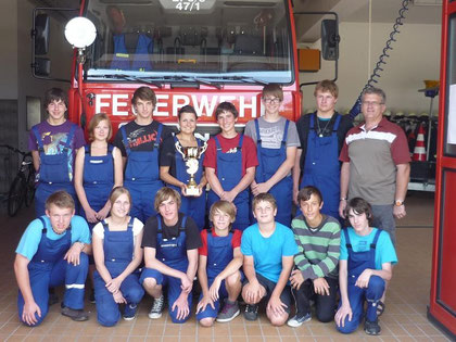 Gruppe zum Zeltlager 2011