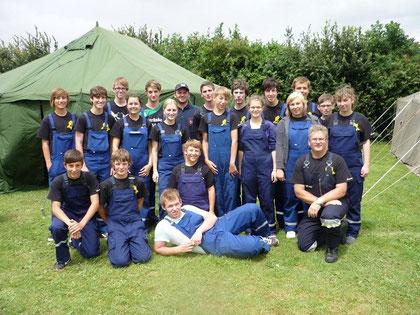 Gruppe zum Zeltlager 2012