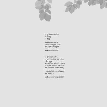aus: 'Bäume - Gedichte, Tagebuchgedanken und Fotografien'