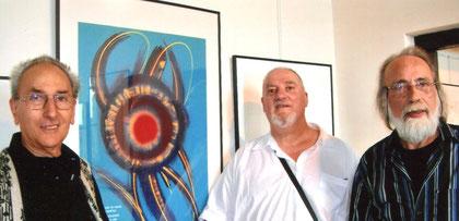 avec les peintres henri baviéra et jean gabriel jonin - 2007