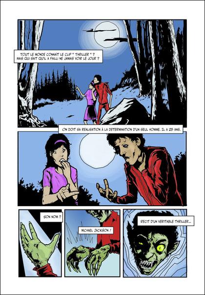 """Guillaume Griffon : page 1 de l'histoire """"Un clip mortel !"""""""