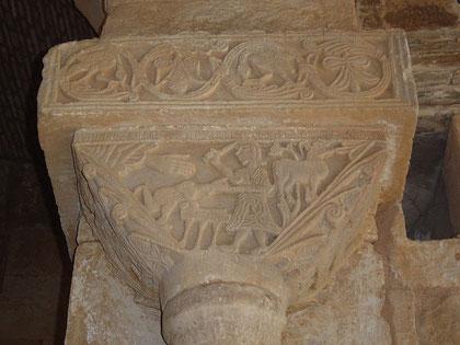 Capitel San Pedro de la Nave. Sacrificio de Isaac.