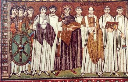 Cortejo de Justiniano. San Vital.Ravenna