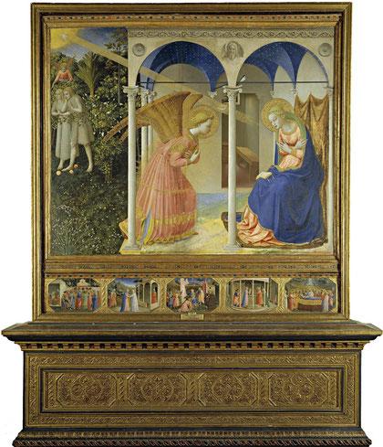 Anunciación. Beato Angélico. 1431.Museo del Prado