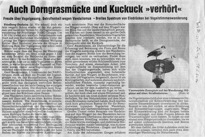 Vogelstimmenwanderung Dorheim