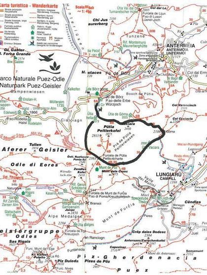 Rundtour Peitlerkofel, Schwierigkeitsgrad: leicht bis mittelschwer