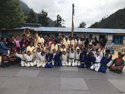 2017年 エベレスト柔道クラブ オープンセレモニー参加