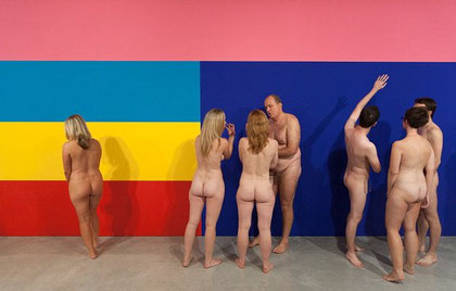 Nudist tour, Stuart Ringholt, National Gallery of Australia, Julia Rajacic, Eugenio Viola, PAC Milano