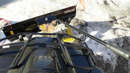 Bedienungsstange für Winkeleinstellung des Schneeschild am Kymco Quad