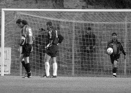 8': Baldisseri e Minori sconsolati dopo il gol subito