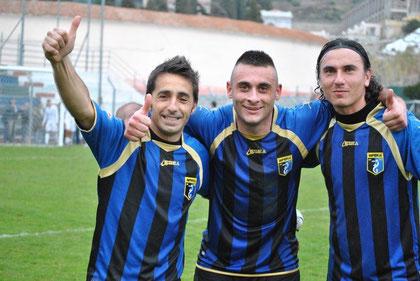 Iannolo, Fiani e Vago festeggiano a fine gara