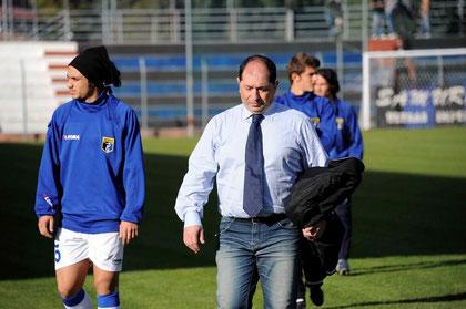 Il neo allenatore Di Pierro con Greco