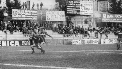 72': Minietti salta anche Cecconi e realizza il gol vittoria